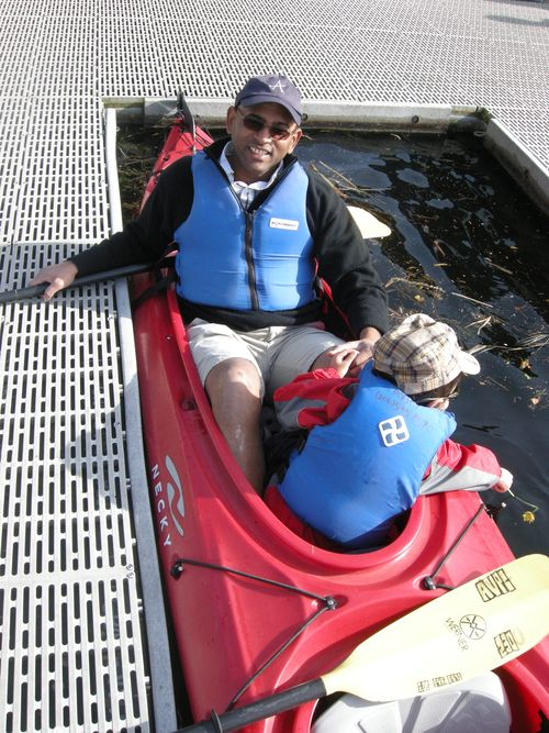 Vehd's first time in a kayak